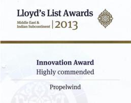 lloyd's list awards me 2013 innovation award