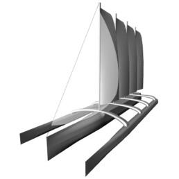 trimaran four soft sails