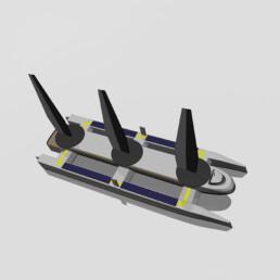 catamaran three wings